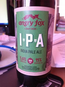 Свежевъ Angry Fox IPA
